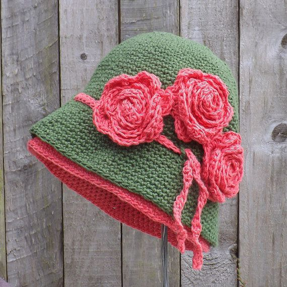Pretty cloche hat  https://www.etsy.com/listing/192777619/green-and-red-womans-cloche-hat-cloche