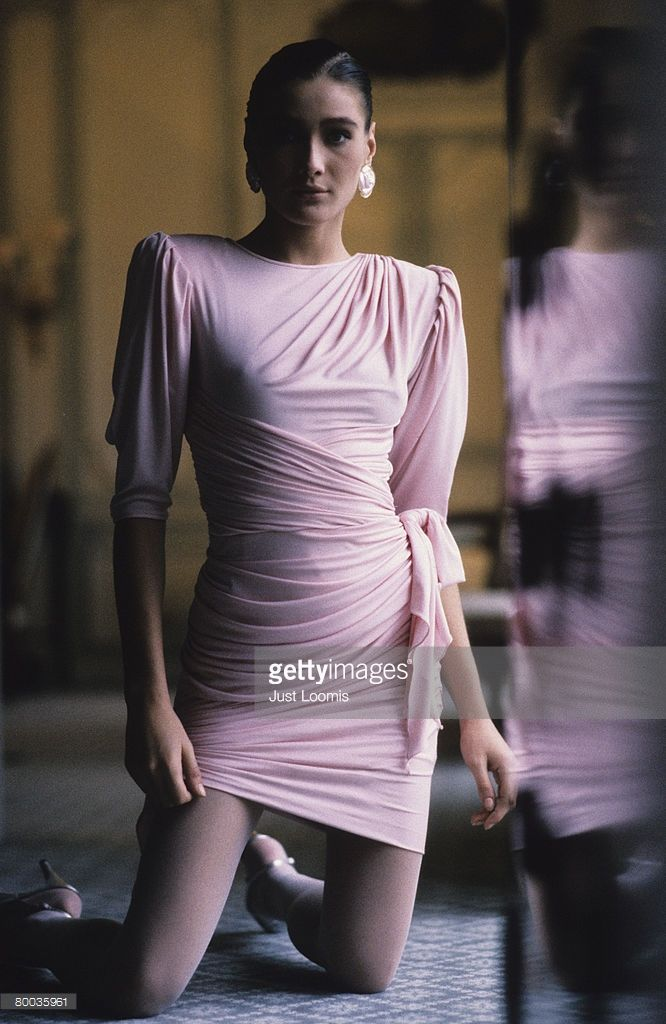News Photo : Model Carla Bruni poses at a portrait session in...