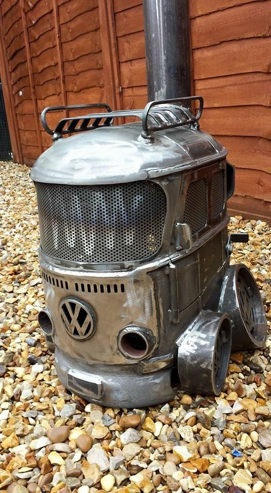 vw bus wood stove, obviously it's awesome!