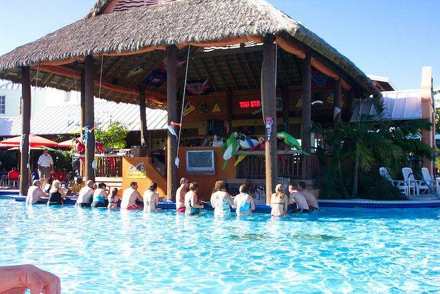Swim up bar at Margaritaville Grand Turk