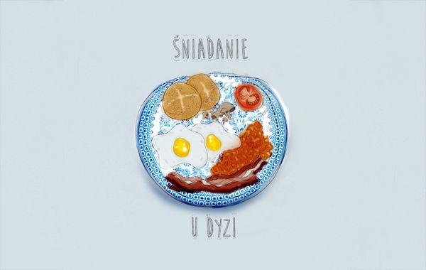 breakfast, illustration, digital painting, polish art