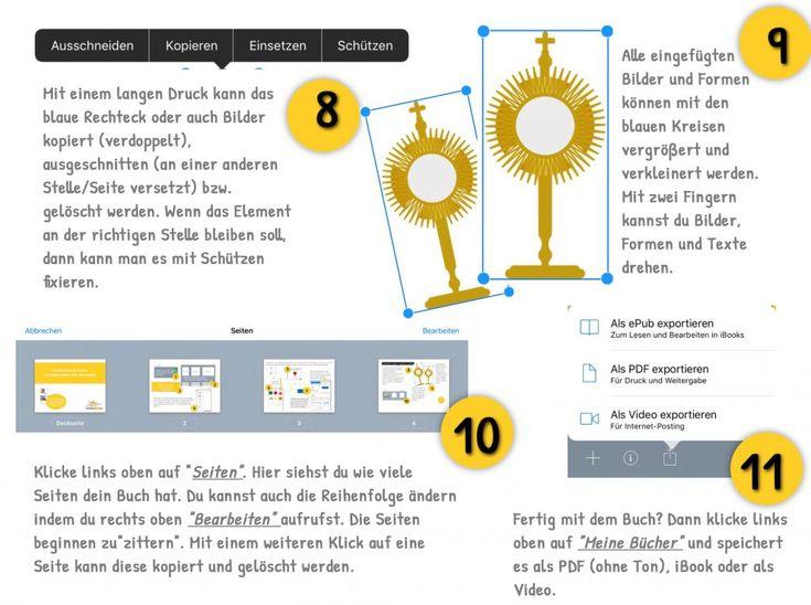Mit der App Book Creator digitale Bücher im Unterricht gestalten z.B. im Religionsunterricht. Hier gibt es eine Anleitung zu Book Creator