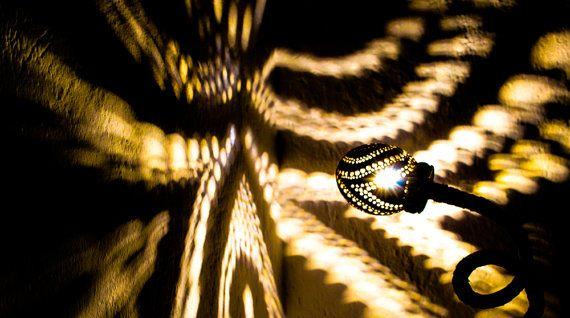 SALE HANDMADE coconut lamp handcrafted bohemian graduation
