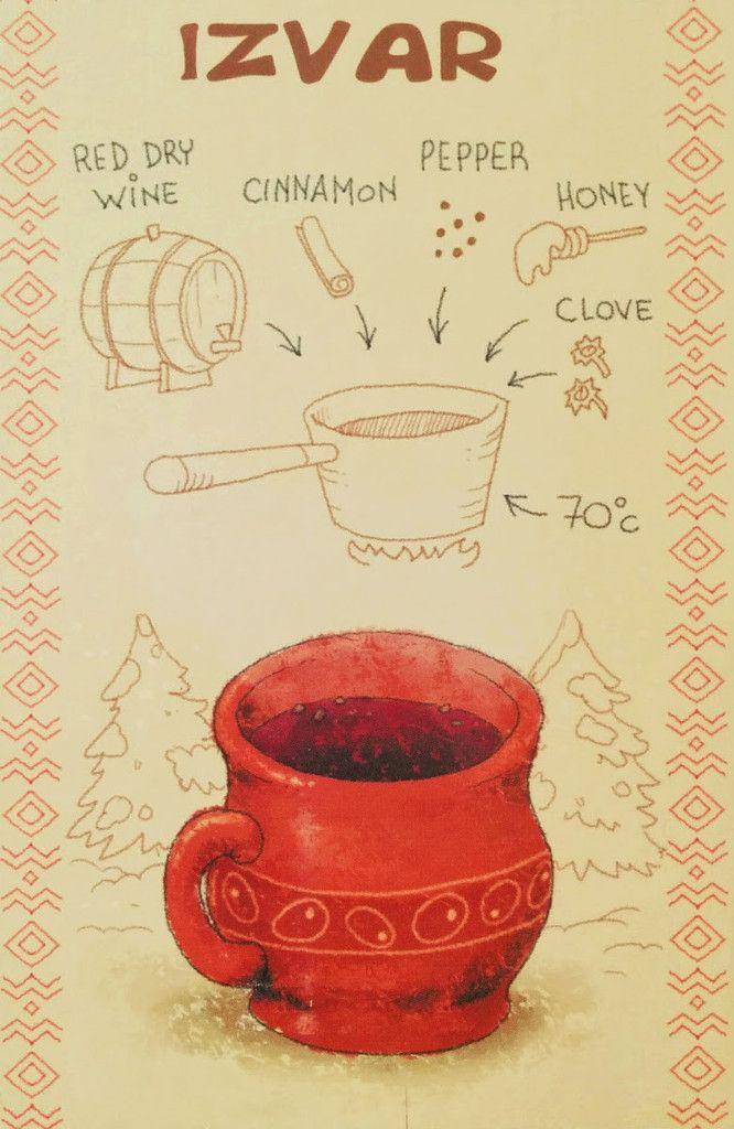 Izvar Moldova Drink Postcard  author: Anna și Stepan Crani
