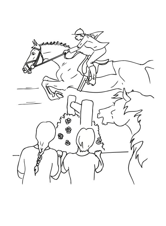 Vintage Horse Jumping Coloring Pages 69 Jumping Horse