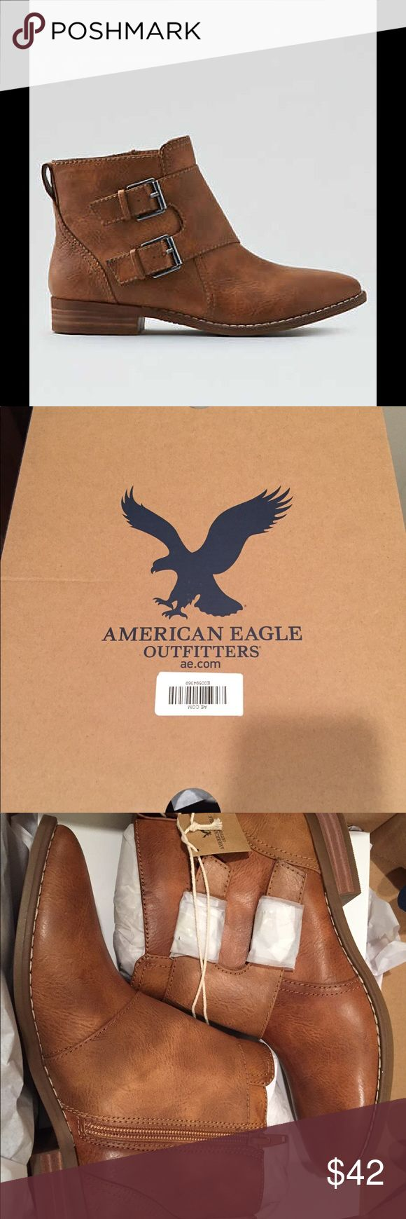 ☀️NWT American Eagle Outfitters Ankle Booties 7 American Eagle Outfitters AEO Buckled Ankle Booties, size 7, Brand New with tags & comes with box! American Eagle Outfitters Shoes Ankle Boots & Booties