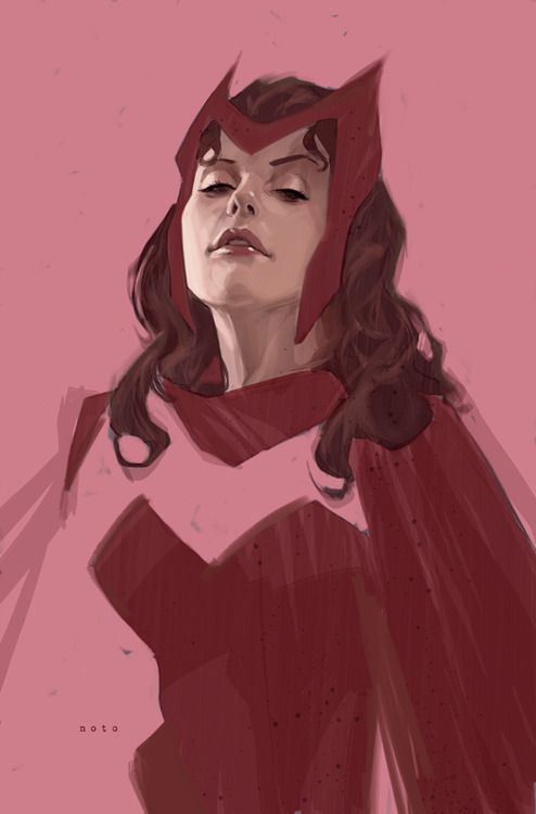 Wanda Maximoff (Scarlet Witch) by Phil Noto -- Phil Noto is one of our favorite illustrators #comics