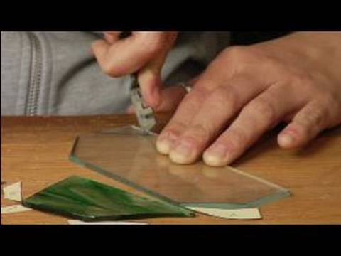 How to Make Art Out of Stained Glass : How to Cut Small Glass Pieces for Stained-Glass Projects