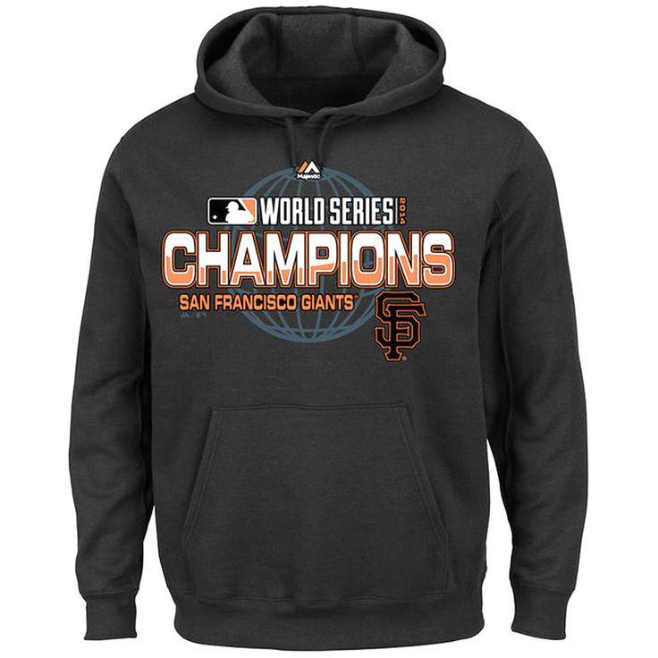 San Francisco Giants Majestic 2014 World Series Champions Infielder Big & Tall Pullover Hoodie – Black - $48.44