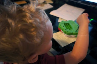 Helping Daddy! #WordlessWednesday 07/25/12 | #preschool #homeschool