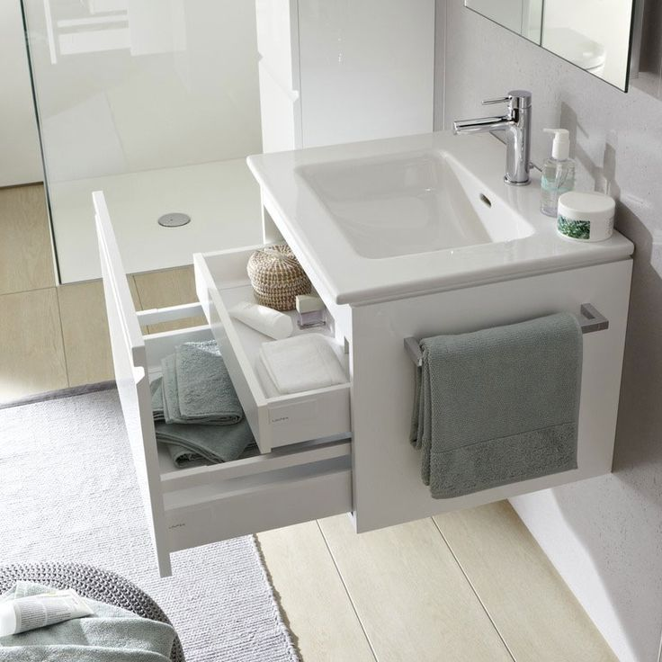 Keep essentials close to hand with Laufen Bathrooms' vanity units.