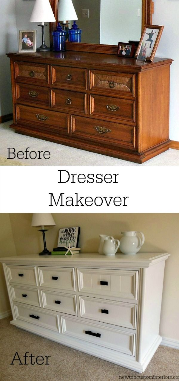 Dresser Makeover - Before and After from NewtonCustomInteriors.com