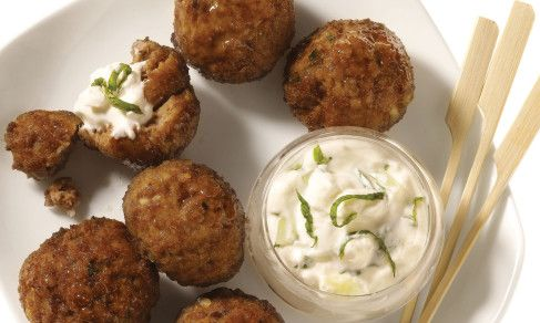 Greek Meatballs with Tzatziki: YUMMY!!! I used ground beef & no lamb, and it turned out delicious!! I even got my toddler to eat it & she usually won't eat ground beef.