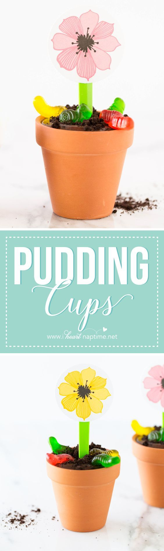 Flower Pot OREO Dirt Pudding Cups... this no bake dessert couldn't be any easier or delicious!