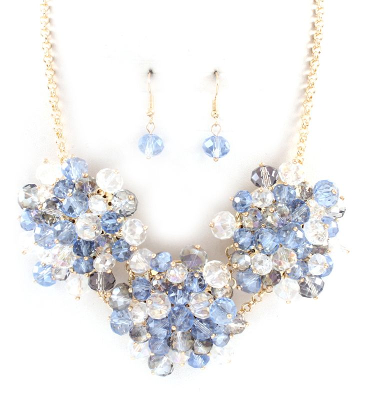 Bobbi Necklace in Prussian Blue Crystal on Emma Stine Limited