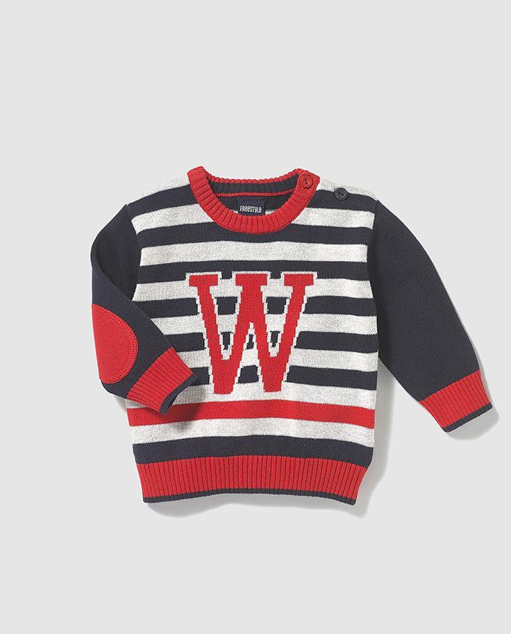 Jersey de rayas de niño Freestyle con intarsia