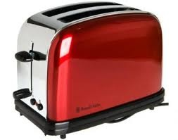 THE SUPPLY SHOPPE - Product - 142 66-56 RUSSELL HOBBS 2 SLICE RED TOASTER