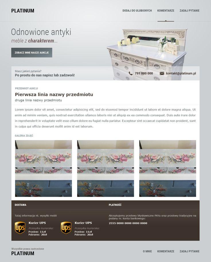 Szablon aukcyjny dostosowany pod względem designu i funkcjonalności do wysokich oczekiwań użytkowników, a do tego dostępny w przystępnej cenie i z szybkim czasem realizacji? Z nami takie rzeczy są jak najbardziej możliwe - zachęcamy do kontaktu :)  792 817 241  biuro@e-prom.com.pl e-prom.com.pl  #szablon #szablony #szablonaukcyjny #szablonyallegro #szablonyebay #projektowaniegraficzne