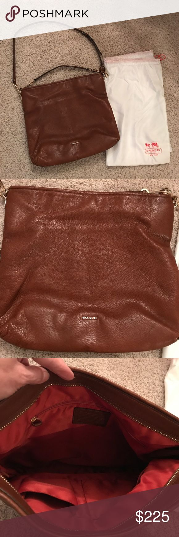 Brown leather Coach Hobo Bag Brown leather Coach Hobo style Bag! In great shape, soft leather, so comfortable to wear crossbody or shoulder! This bag is perfect for the Mom that has lots to carry around!:-) Dust bag included Coach Bags Crossbody Bags