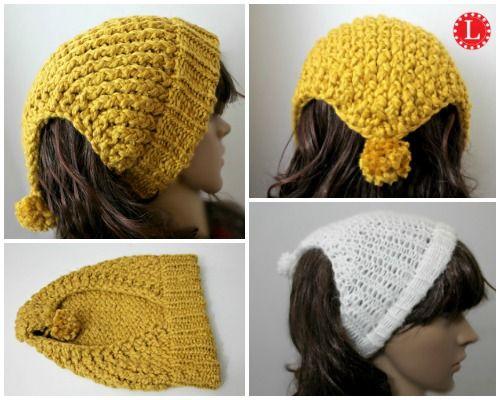 Loom Knit Headband Scarf - Ear warmer - Open Hat. Pattern with video tutorial