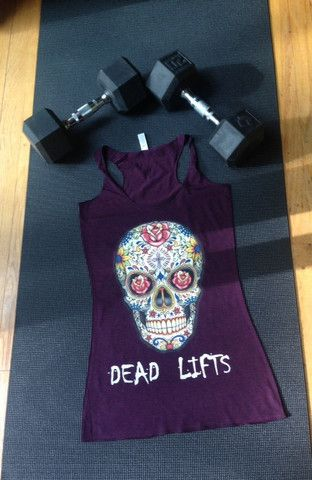 I want this ! RG Sugar Skull Racerback Tank – Ripped Goddess