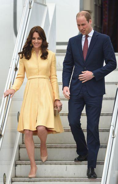 Le prince William et son épouse la duchesse de Cambridge sont arrivés au Bhoutan, où ils se sont essayés au tir à l'arc traditionnel, ce jeudi 14 avril 2016
