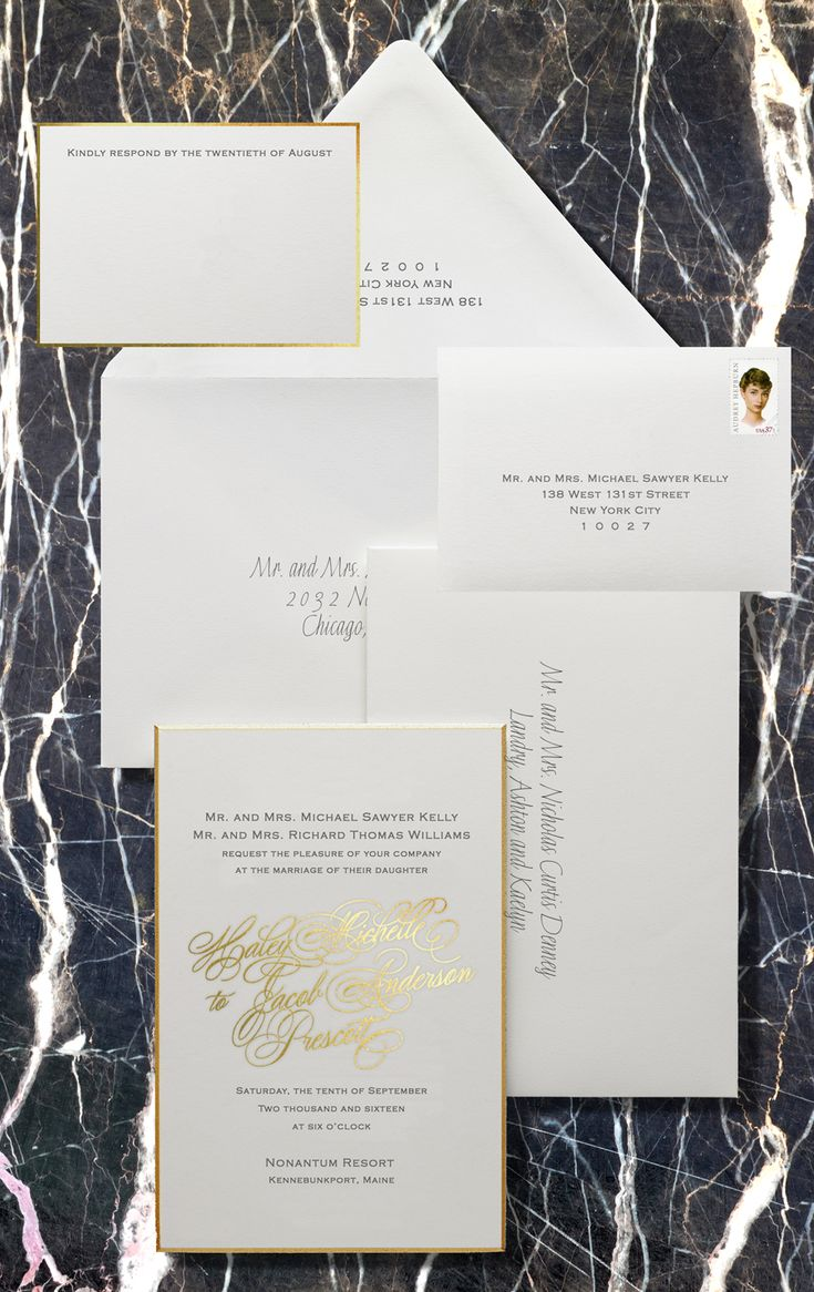 time wedding invitatiowording%0A Modern gold foil wedding invitation wording etiquette  Bell u    INVITO  Stationers