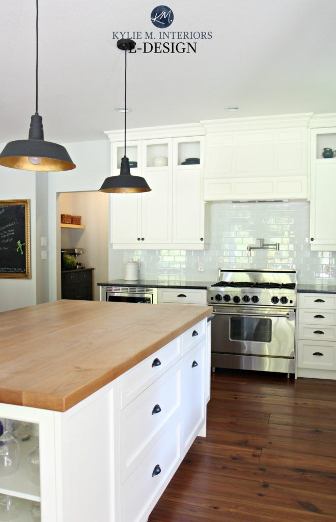 A Modern Farmhouse Style Home Paint Colours And More White Cabinets Black Granite Granite Countertops Kitchen Kitchen Cabinet Styles