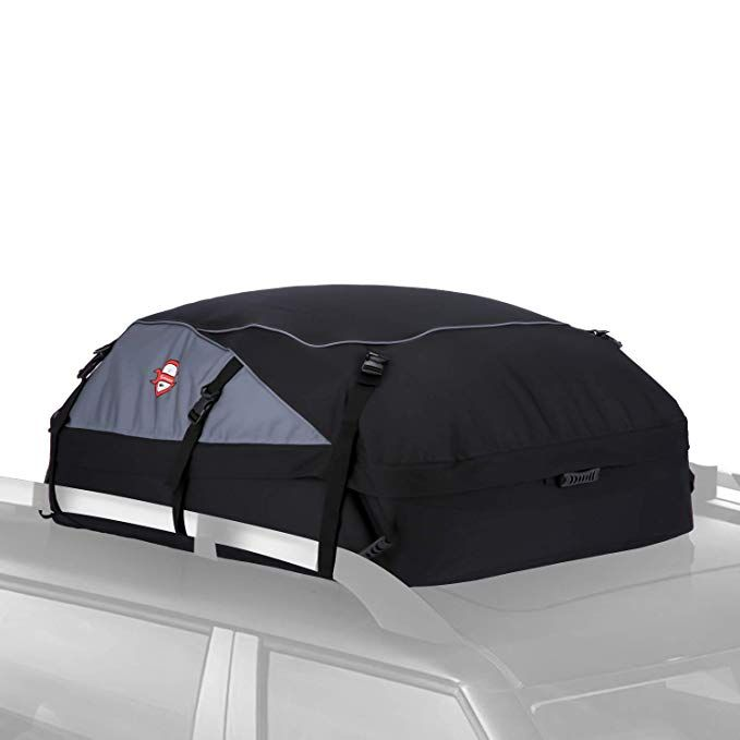 Fits ALL Cars: With Side Rails Rooftop Cargo Carrier includes Heavy Duty Straps Premium Triple Seal for Maximum Protection Cross Bars or No Rack 2 Yr Warranty Made in USA RoofBag 100/% Waterproof