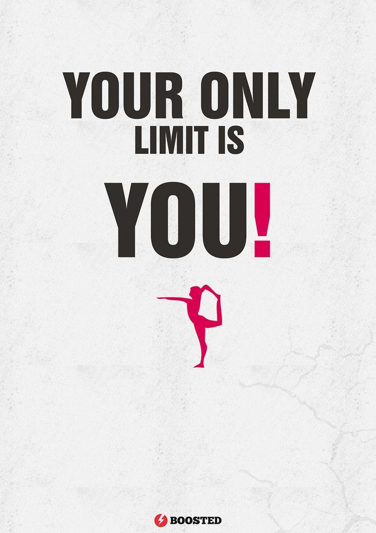 Motivační plakát Limit (Anglicky)