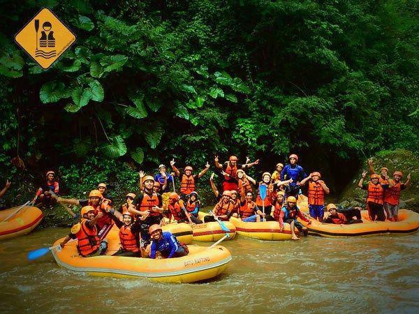 Rafting di Batu outound pemkab lumajang