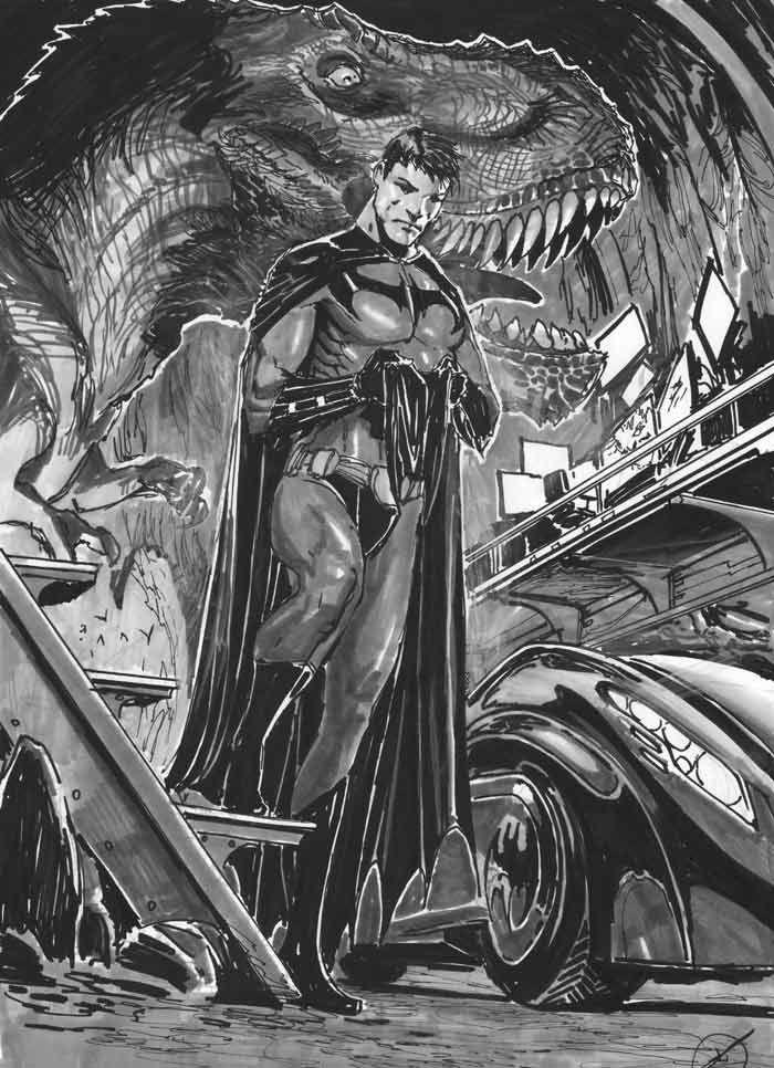 Batman - Black And White Comic-Book Art By Stjepan Sejic -3087