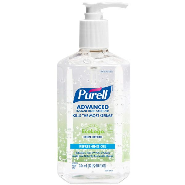 Purell 3691 12 Advanced Green Certified 12 Oz Gel Instant Hand