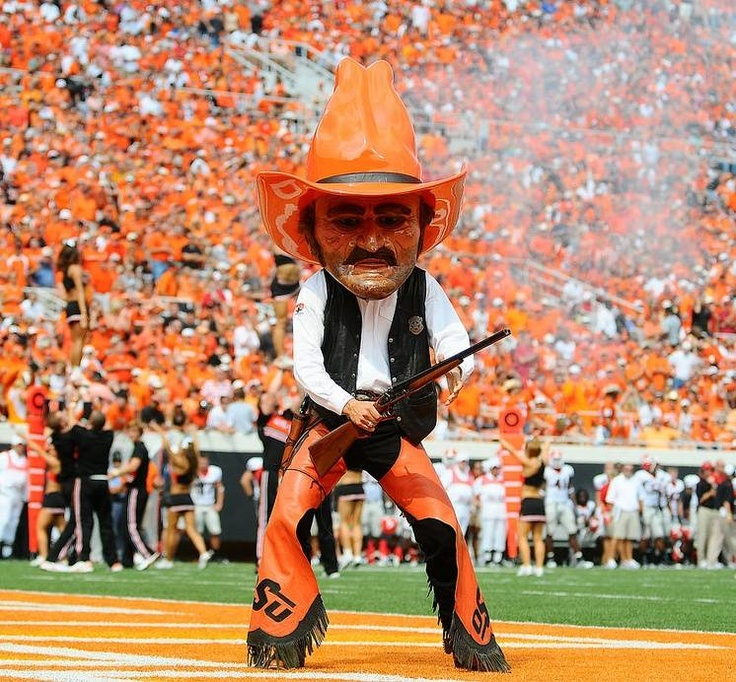 I wouldn't mess with that dude...  https://i.pinimg.com/736x/a4/56/4f/a4564f9f471b956dfb8e42d99e99d682--pistol-pete-oklahoma-state-university.jpg