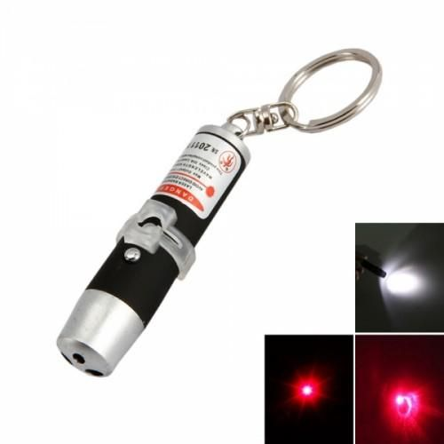 Black Flashlight   Laser Keychain