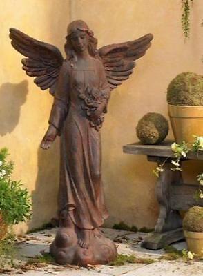 Outdoor-Angel-Garden-Statue-Lawn-Yard-Patio-Decor-41-034-Tudor-Cherub-Angel-Wings
