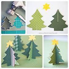Resultado de imagen para adornos de patron para hacer arbolito de navidad de carton 3d