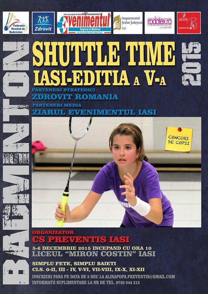 Shuttle Time, editia a IV-a – competitie de badminton pentru copii