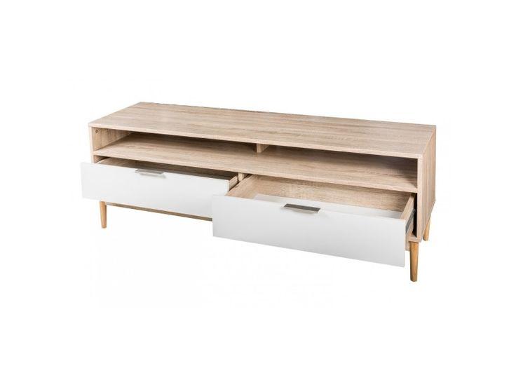 Meuble tv 2 tiroirs gaby - Vente de Meuble tv - Conforama