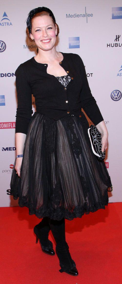 "Enie van de Meiklokjes erschien im schwarzen Kleid bei der ""Movie meets Media"""