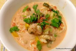 Coconut shrimp soup. This gets made often in my house. So delicious and so easy!