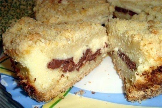 Фото к рецепту: Вкусный творожный пирог