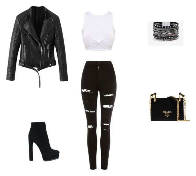"""""""Untitled #26"""" by jennybuutrago on Polyvore featuring Topshop, Casadei, Prada and White House Black Market"""