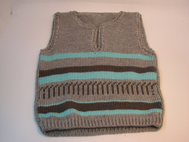 baby  knitted vest sweater 1224 month gray  by ShulamitKnittings, $22.00