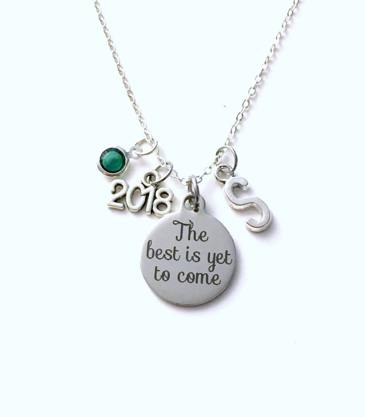 Graduation Necklace, 2018 Retirement Jewelry, The best is yet to come Gift for daughter Present silver her women woman granddaughter niece by aJoyfulSurprise on Etsy