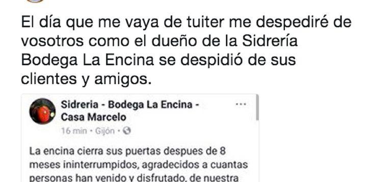 """El mensaje de despedida más épica de una sidrería de Gijón a sus """"impresentables"""" clientes"""