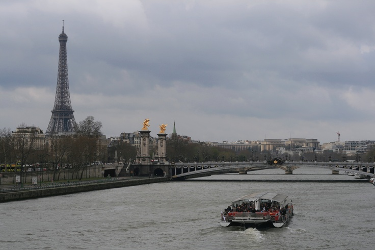 A cloudy day.  Paris, France