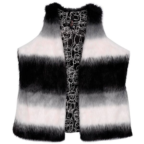 Melissa McCarthy Black Dip-Dye Faux Fur Vest ($100) ❤ liked on Polyvore featuring plus size women's fashion, plus size clothing, plus size outerwear, plus size vests, plus size, plus size faux fur vest, vest waistcoat, melissa mccarthy seven7, plus size vest and faux fur waistcoat