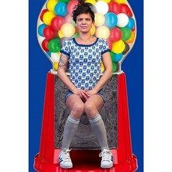 #40 T-shirt Gummi bal i retrostil fra HalsOverKop