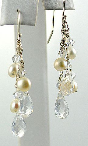 Karen Astrachan Designs | Every Day Collection: Pearls & White Topaz, Sterling Silver